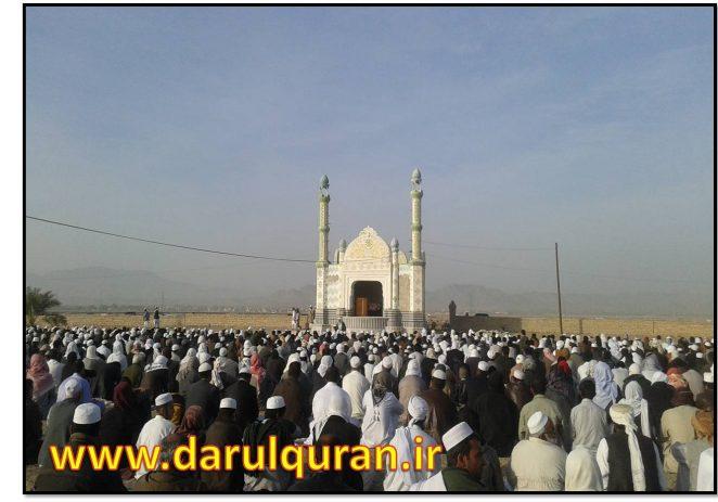 دعا و نماز استسقاء(طلب باران) مردم شهر سراوان