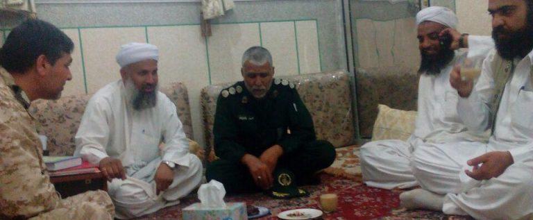 دیداروملاقات فرمانده سپاه شهرستان سراوان( سرهنگ پاسدار پودینه) با  مدرسین مدرسه دارالقرآن سراوان